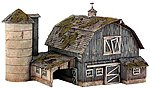 Rustic Barn Pre Fab Kit -- HO Scale Model Railroad Building -- #pf5190