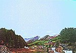 Sierra Boomtown (Gold Rush) Background Scene 24'' x 36'' -- Model Railroad Scenery Supply -- #701