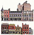 Instant Buildings Main Street Stores -- HO Scale Model Railroad Scenery Supply -- #725