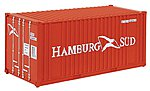 20' Container Hamburg -- HO Scale Model Train Freight Car Load -- #8006