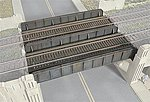 Through Plate-Girder Bridge - Kit -- HO Scale Model Railroad Bridge -- #2948