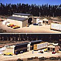 Walton & Sons Lumber Company - Kit - Main Building -- HO Scale Model Railroad Building -- #3057