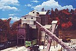 Glacier Gravel Company - Kit - 9-3/8 x 11 x 10-1/4'' -- HO Scale Model Railroad Building -- #3062