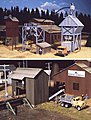 Sawmill Outbuildings - Kit -- HO Scale Model Railroad Building -- #3144