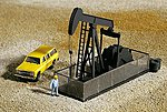 Walking Beam/Horse Head Oil Pump - Kit -- N Scale Model Railroad Building -- #3248