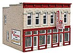 Jim's Red Owl - Kit - 4-1/4 x 3-5/8 x 3-3/8'' -- HO Scale Model Railroad Building -- #3472