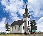 Cottage Grove Church - Kit - 7 x 3-1/2 x 8 Inch -- HO Scale Model Railroad Building -- #3655