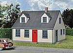 Cape Cod House - Kit -- HO Scale Model Railroad Building -- #3776