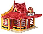 Golden Dragon Chinese Take Out - Kit -- HO Scale Model Railroad Building -- #3780