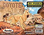 Coyote (Red Fox) (9'' Long) -- Wooden 3D Jigsaw Puzzle -- #1121