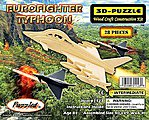 Eurofighter Typhoon Aircraft Skeleton Puzzle (10'' Long) -- Wooden 3D Jigsaw Puzzle -- #1123
