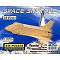Space Shuttle (9.5'' Long) -- Wooden 3D Jigsaw Puzzle -- #1230