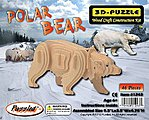 Polar Bear (9.5'' Long) -- Wooden 3D Jigsaw Puzzle -- #1243