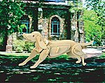 Hunting Dog (9.5'' Long) -- Wooden 3D Jigsaw Puzzle -- #1244
