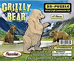 Grizzly Bear Skeleton Puzzle (8'' Tall) -- Wooden 3D Jigsaw Puzzle -- #1260