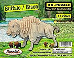 Buffalo/Bison Skeleton Puzzle (10'' Long) -- Wooden 3D Jigsaw Puzzle -- #1261