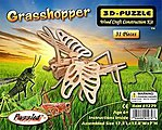 Grasshopper (17.3'' Long) -- Wooden 3D Jigsaw Puzzle -- #1279