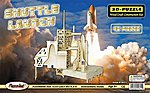 Shuttle Launch (13.5'' Long, 14'' Tall) -- Wooden 3D Jigsaw Puzzle -- #1611