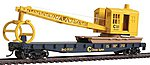 Flatcar w/Logging Crane Chessie System/B&O -- Model Train Freight Car -- HO Scale -- #1782