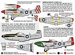 P51D Mustangs in WWII -- Plastic Model Aircraft Decal -- 1/32 -- #32037