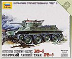 Soviet Tank BT-5 -- Plastic Model Tank Kit -- 1/100 Scale -- #6129