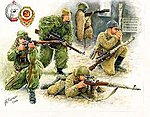 WWII Soviet Sniper (4) (Snap) (New Tool) -- 1/72 Scale Plastic Model Military Figure -- #6193
