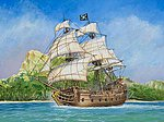 Pirate Ship Black Swan -- Plastic Model Sailing Ship Kit -- 1/350 Scale -- #6514