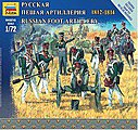 Russian Foot Artillery Napoleonic Wars -- 1/72 Scale Plastic Model Military Figure -- #6809