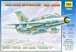 MiG-21PF bis Lazur Soviet Fighter -- Plastic Model Airplane Kit -- 1/72 Scale -- #7259