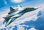 Sukhoi T-50 Russian Stealth Fighter -- Plastic Model Airplane Kit -- 1/72 Scale -- #7275
