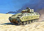 M2 Bradley US Infantry Fighting Vehicle -- Plastic Model Tank Kit -- 1/100 Scale -- #7406