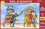 War Elephants III-I BC (2 Elephants & 7 Figs) -- Plastic Model Military Figure -- 1/72 -- #8011