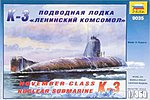 Nuclear Submarine K-3 November Class -- 1/350 Scale -- Plastic Model Military Ship -- #9035