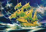 Flying Dutchman Ghost Ship -- 1/100 Scale -- Plastic Model Sailing Ship -- #9042