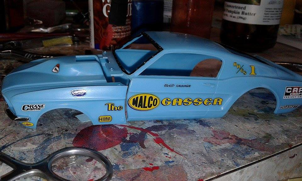1967 Mustang Ohio George Malco Gasser Car (Light Blue