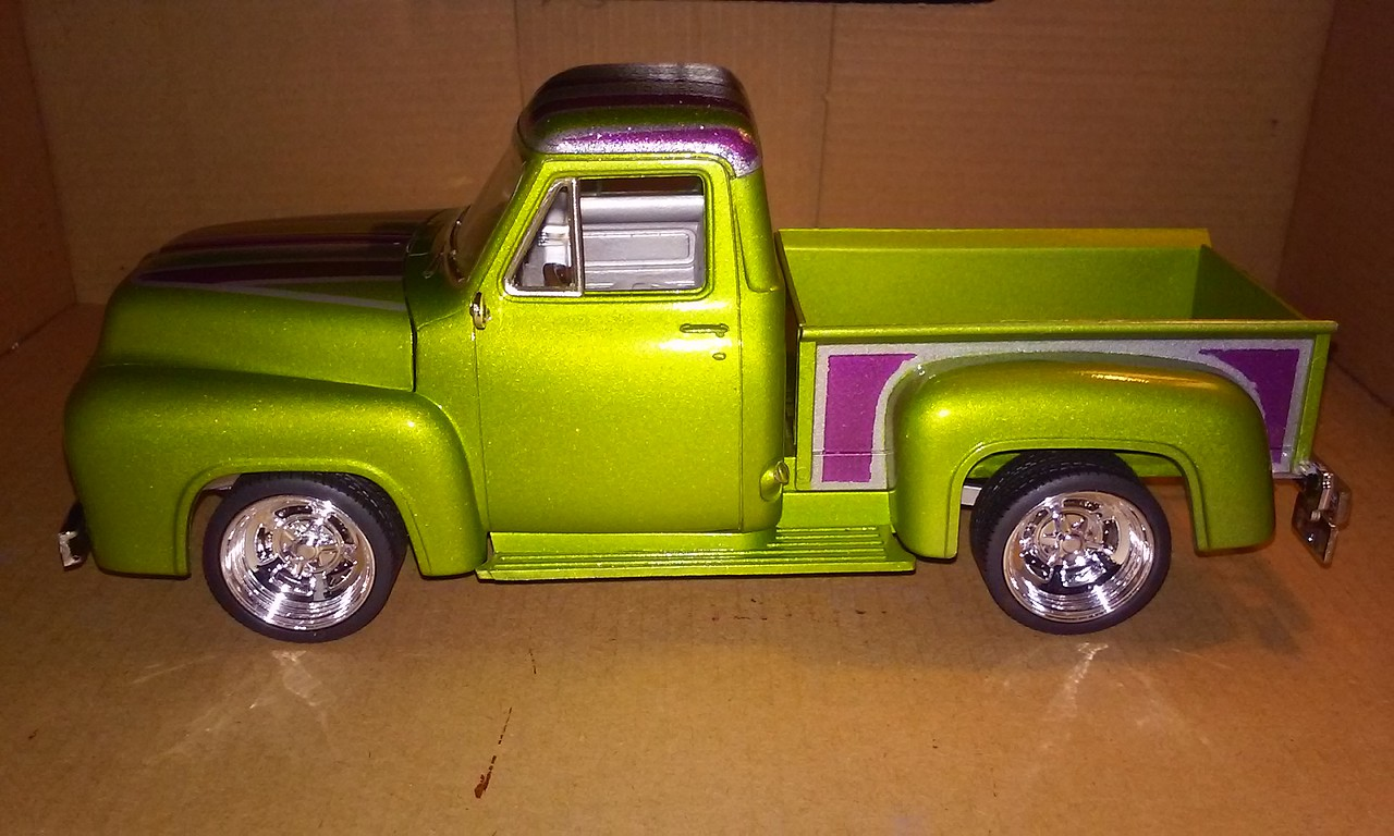 1955 Ford F 100 Pickup Street Rod Plastic Model Truck Kit 1 24 F100 Hot Monogram